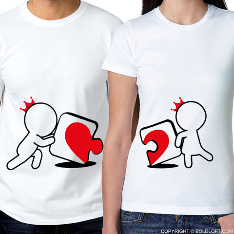 Incomplete Without You™ His & Hers Matching Couple Shirt Set