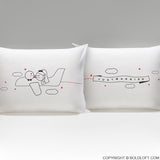 Wedding Gifts-BoldLoft Just Married™ Bride & Groom Pillowcases