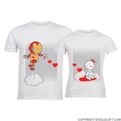 Keep Calm And Love Me™ Couple T-Shirts