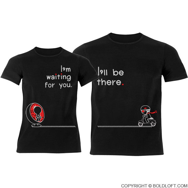 Love Is On The Way His Amp Hers Matching Couple Shirts Black