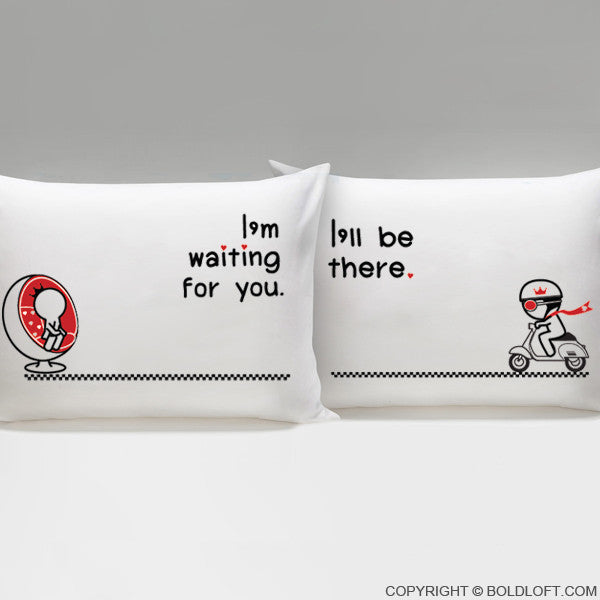 Love is on the Way™ His & Hers Pillowcases