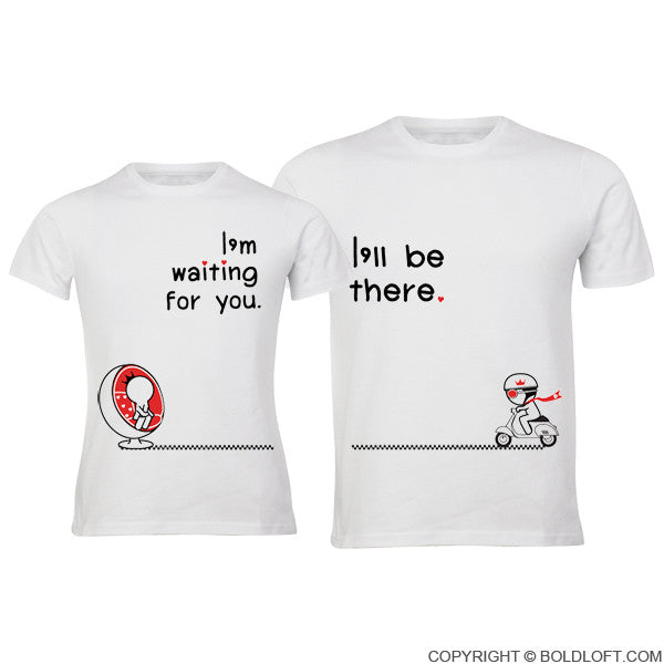 Love is on the way his hers matching couple shirts for Best couple t shirt design