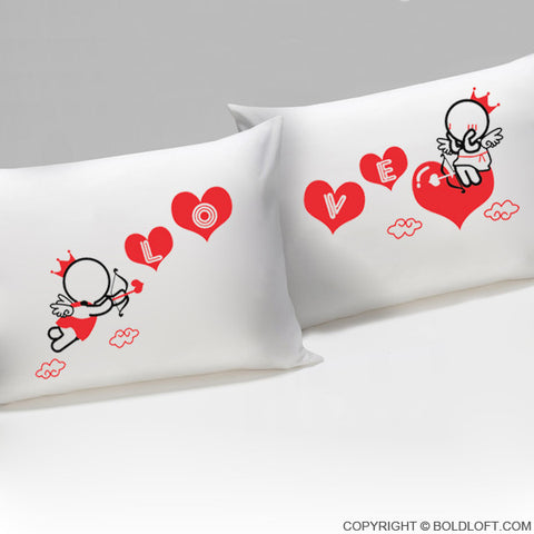 Love Goes Toward Love™ His & Hers Pillowcases