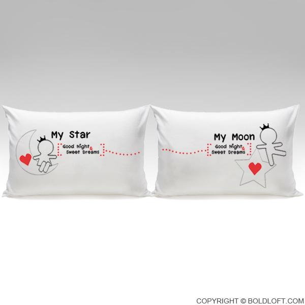 Love You All Night Long™ His & Hers Pillowcases
