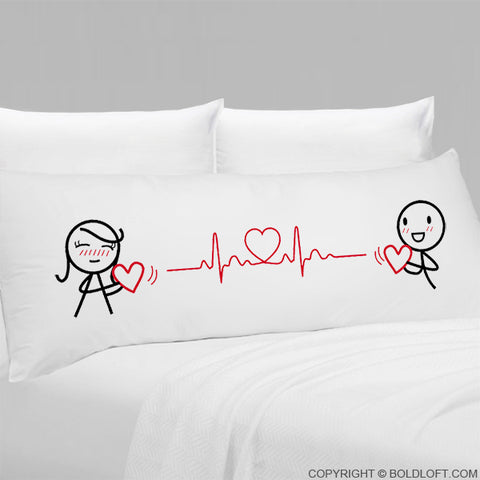 Love You with Every Beat of My Heart® Body Pillowcase