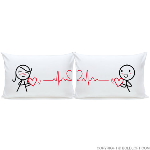 Love You with Every Beat of My Heart ™ Couple Pillowcase Set