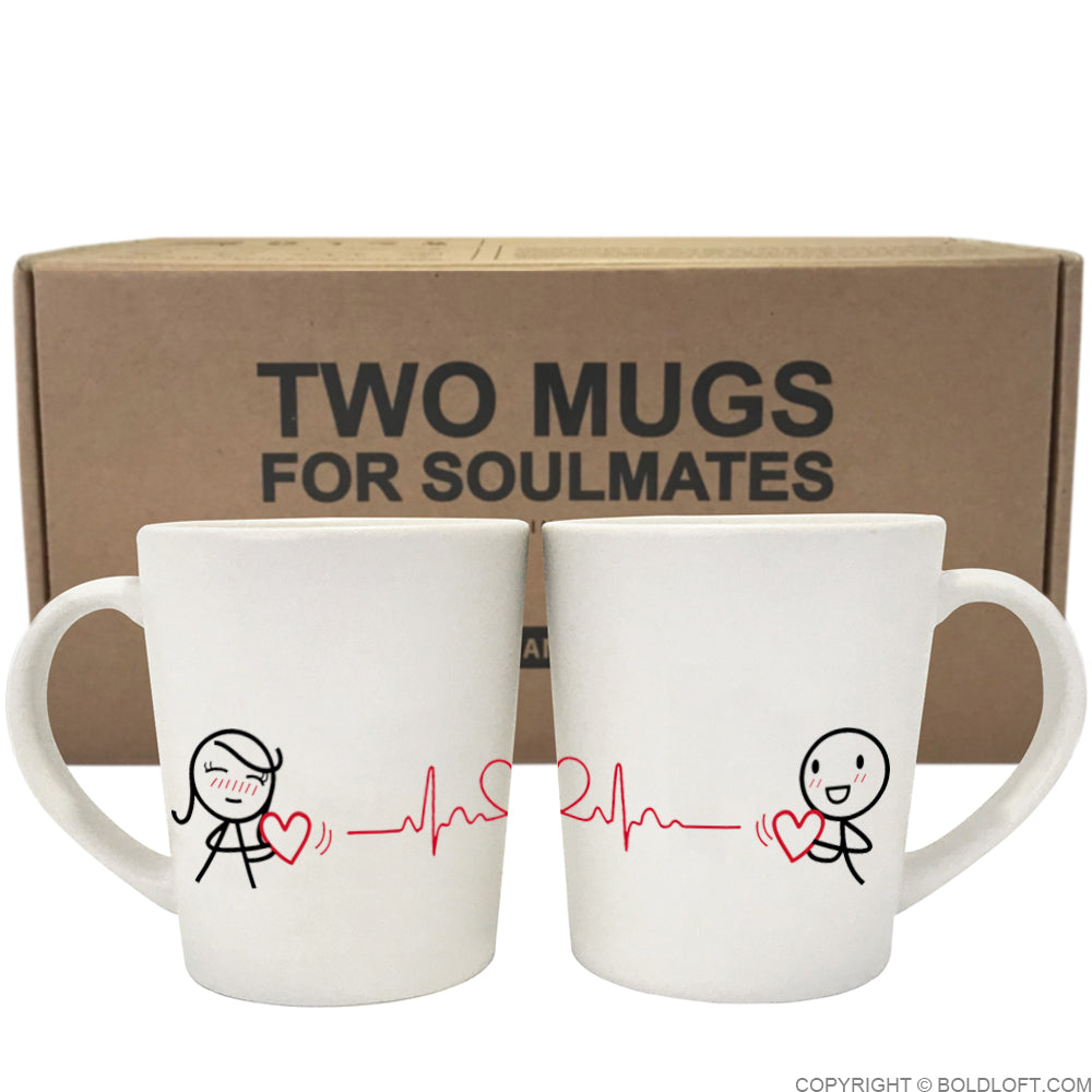 Love You with Every Beat of My Heart™ Couple Mug Set