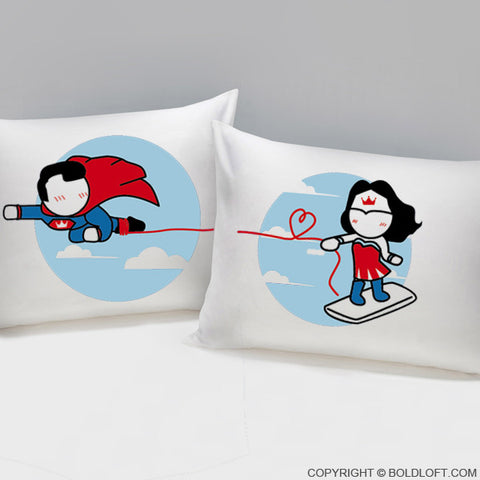 Valentines Day Gifts for Her BoldLoft Made for Loving You Couple Pillowcases Superman Gift
