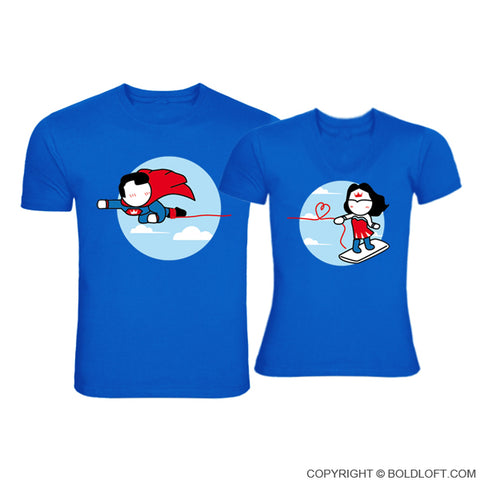 Made for Loving You™ Couple T-Shirts Blue