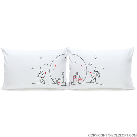 Miss Us Together™ Pillowcases & Cute Valentines Day Gifts for Boyfriend and Girlfriend \u2013 BOLDLOFT pillowsntoast.com