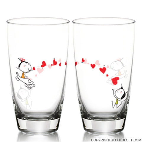 Miss You with All My Heart Drinking Glass Set