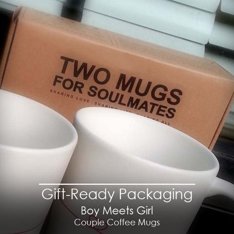 Valentines Day Gifts for Girlfriend | BoldLoft Couple Mugs Gift Giving Ready Packaging
