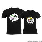 My One & Only Madness™ His & Hers Matching Couple Shirts Black