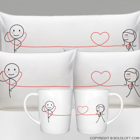 BoldLoft My Heart Beats for You™ His and Hers Gift Bundle Set