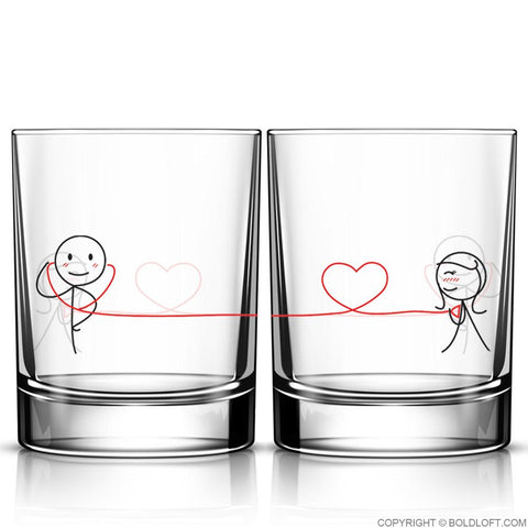 My Heart Beats for You™ Drinking Glass Set