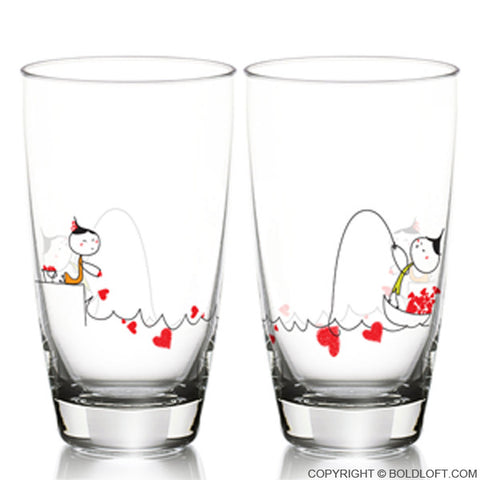 My Heart is Yours to Catch™ Drinking Glass Set