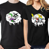 My One & Only Madness™ His & Hers Matching Couple Shirt Set Black
