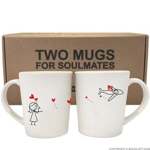 No Matter The Distance™ Couple Coffee Mugs