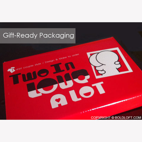BoldLoft Couple Pillowcases Gift Giving Ready Packaging