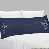 Say I Love You™ Body Pillowcase (Dark Blue)
