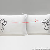 BoldLoft Say I Love You His and Hers Couple Pillowcases