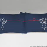 Say I Love You™ Pillowcases (Dark Blue)