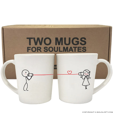 Valentines Day Gifts for Her | Say I Love You Couple Coffee Mugs
