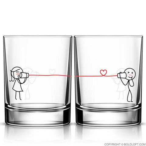 Say I Love You Too™ Drinking Glass Set