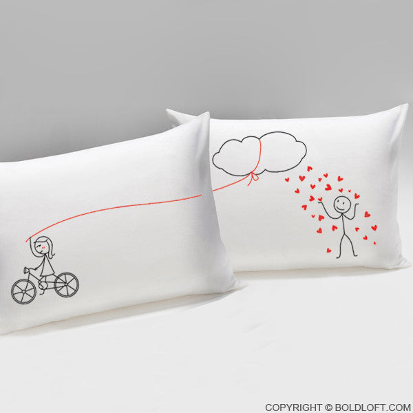 BoldLoft Shower You with My Love Couple Pillowcases