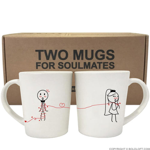 Tie the Knot™ Bride & Groom Coffee Mugs
