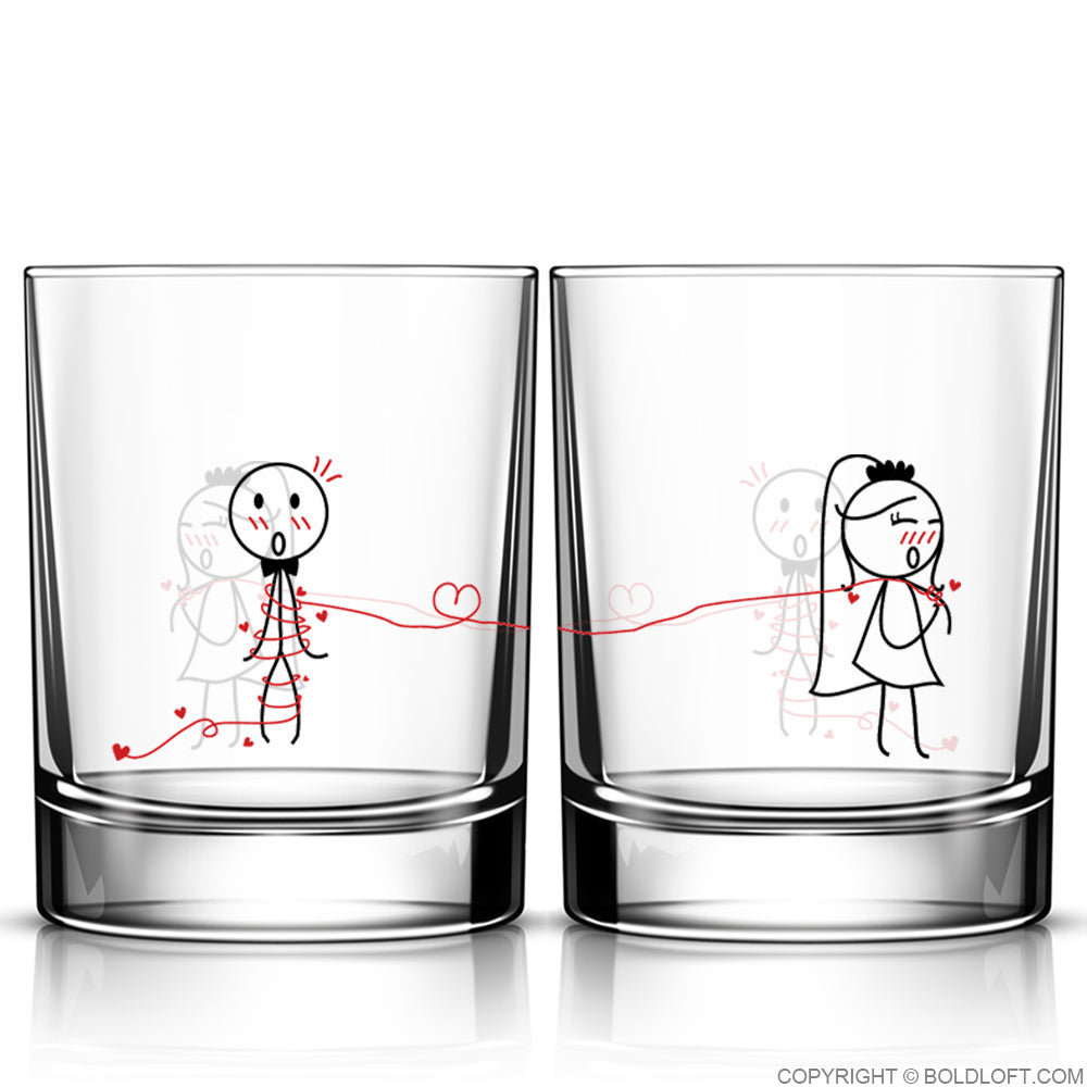 Tie the Knot™ Wedding Drinking Glass Set