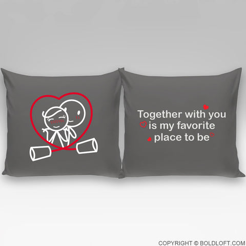 Together is My Favorite Place to Be™ Euro Pillow Cover Set