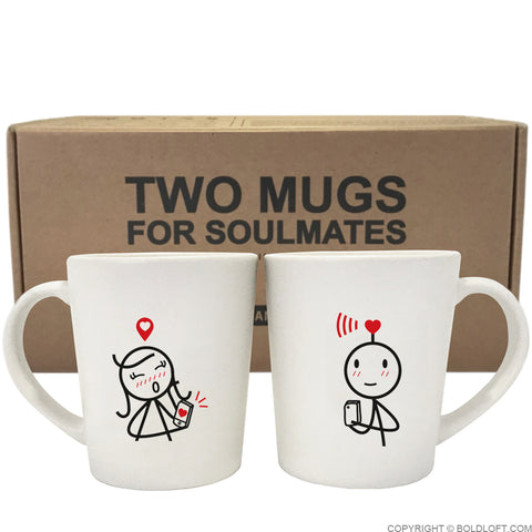 We are Connected™ Couple Mug Set