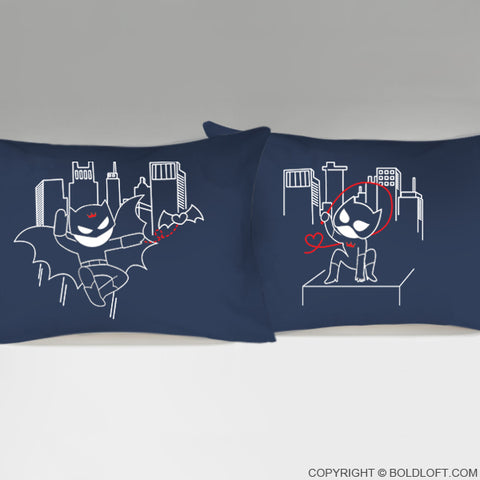 We're Irresistibly Attracted™ His & Hers Couple Pillowcases