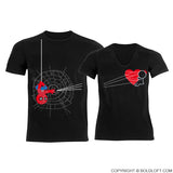 You've Captured My Heart™ His & Hers Matching Couple Shirts Black