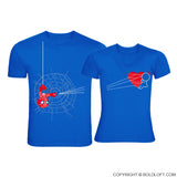 You've Captured My Heart™ His & Hers Matching Couple Shirts Blue