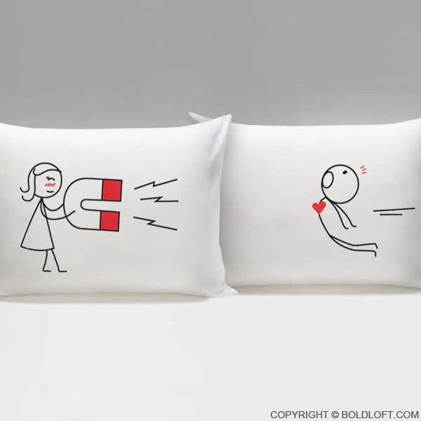 Valentines Day Gifts for Him-You're Irresistible Couple Pillowcases