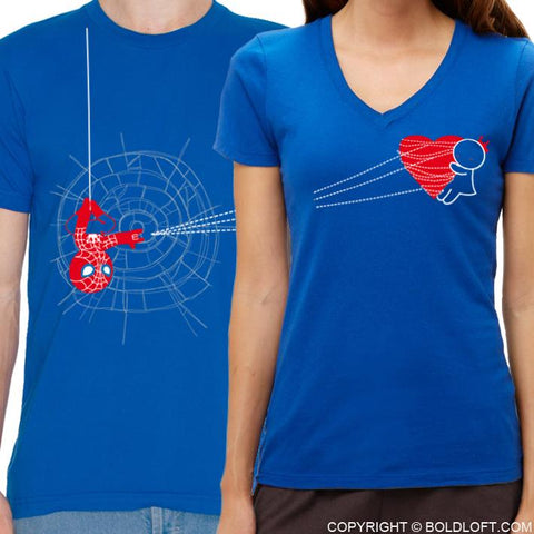 You've Captured My Heart™ His & Hers Matching Couple Shirt Set Blue