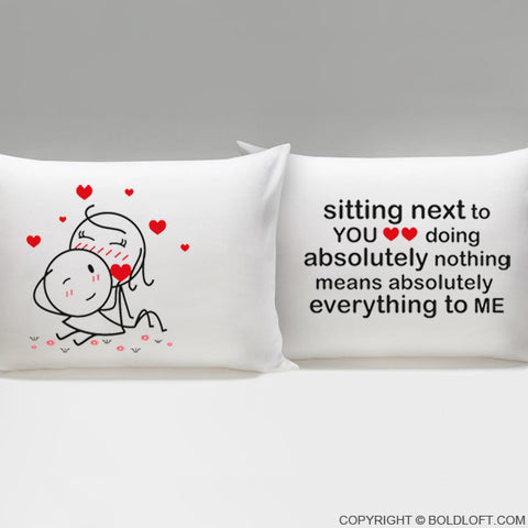 You Mean Everything to Me™ Couple Pillowcases
