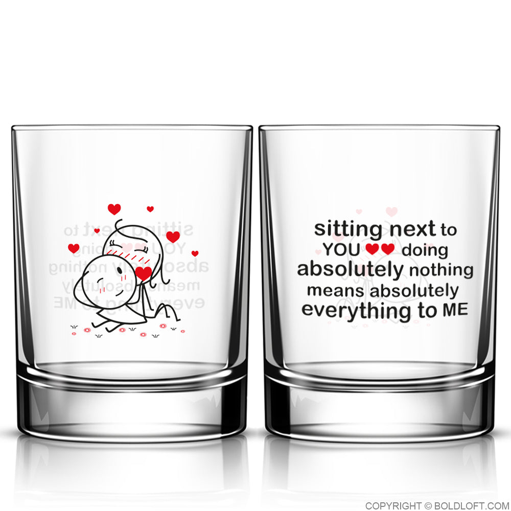 You Mean Everything to Me™ Couple Drinking Glass Set