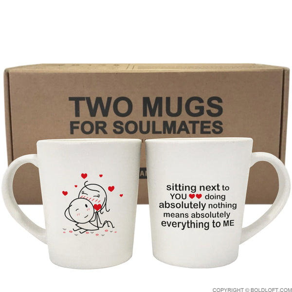 unique his and her coffee mugs you mean everything to me couple