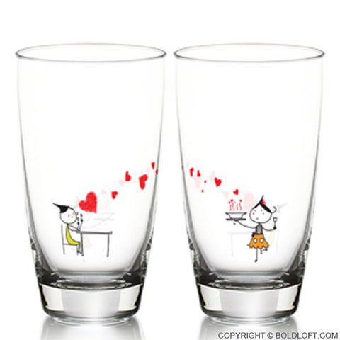 Your Love is Delicious© Drinking Glass Set