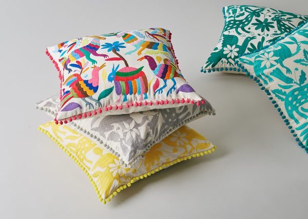 Yucu Ninu: colourful Otomi cushion covers