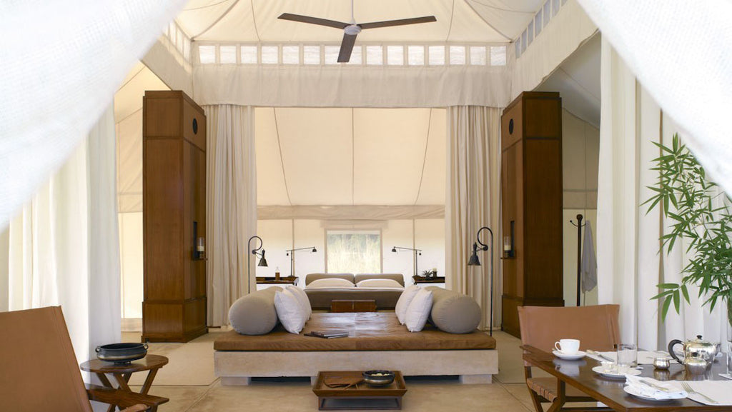Luxury camping in Ranthambore National Park at Aman-i-Khas
