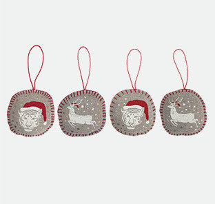 Set of 4 Christmas tree decorations
