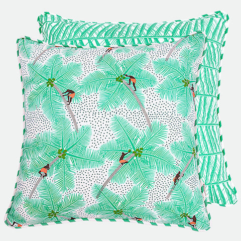 Coconut Pickers cushion cover by Safomasi