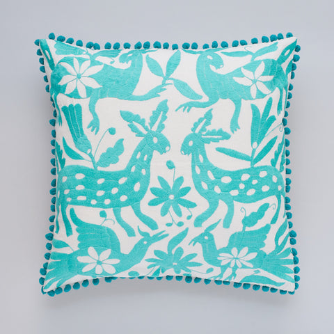 Yucu Ninu Aqua Otomi cushion cover