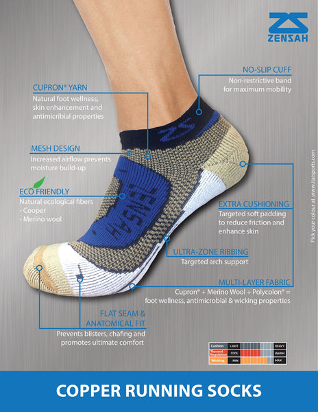 ZENSAH COPPER RUNNING SOCKS