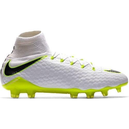 Nike JDI Hypervenom Phantom 3 Pro Dynamic Fit FG Football Boots - White/Metallic Grey