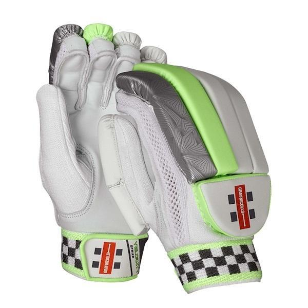 Gray-Nicolls Velocity Strike Cricket Batting Gloves Junior - White/Green